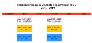 harmonogram SP 35 2018-2019